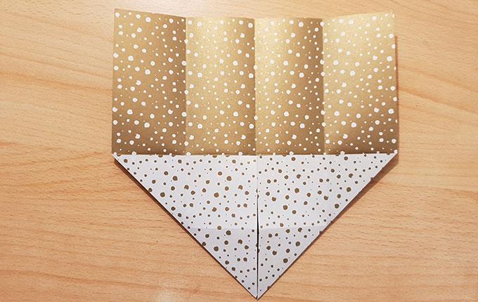 Origamipapier mit Pfeilspitze