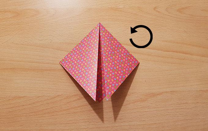 Origamipapier um180° drehen