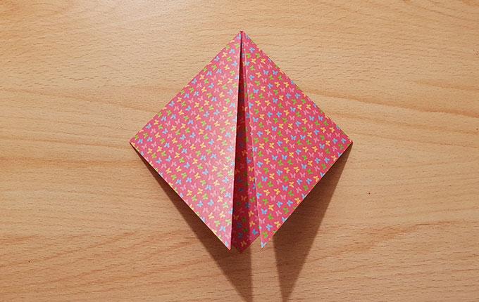 Origamipapier um180° gedreht