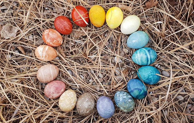 Ostereier natürlich färben - Anleitung