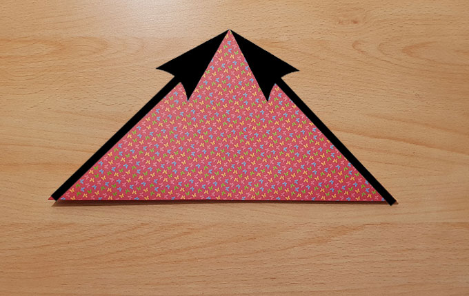 Pfeile von Dreiecksspitzen weisen auf obere Spitze
