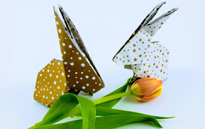 Origami Hase basteln – Einfache Anleitung