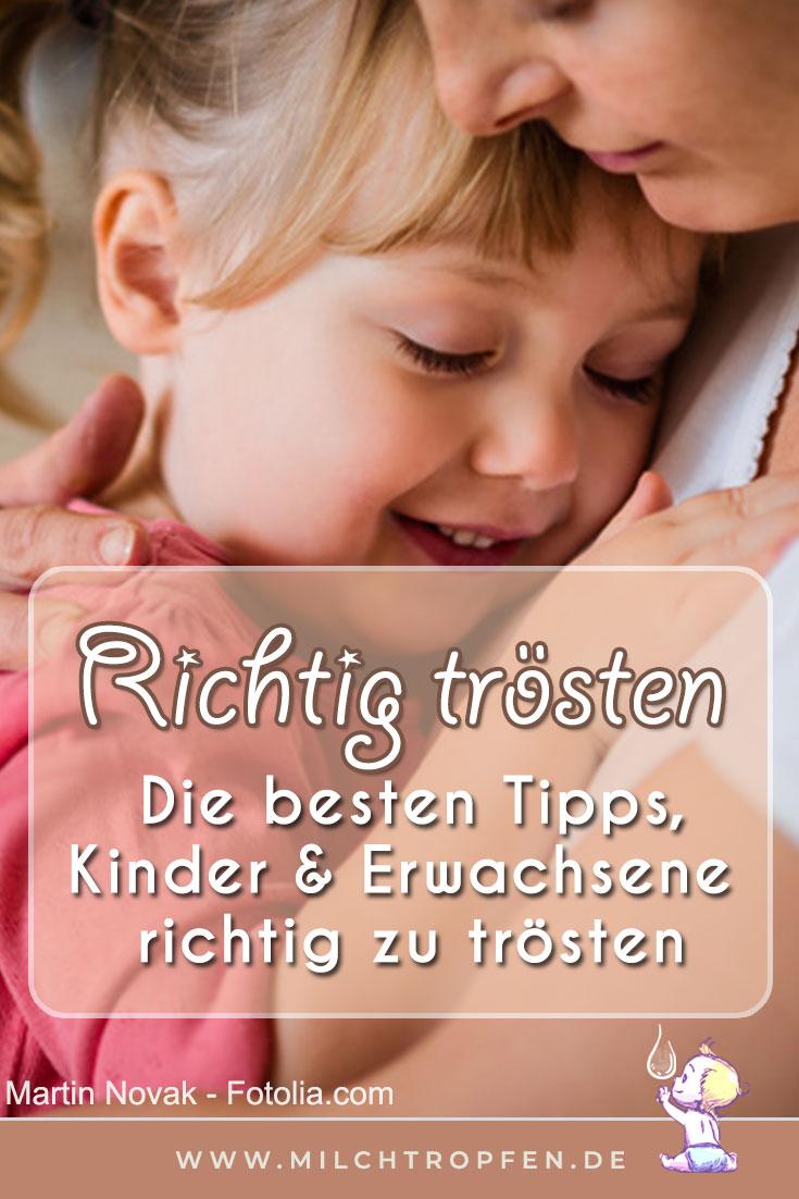 Richtig tröten - Die besten Tipps, Kinder & Erwachsene richtig zu trösten | Mehr Infos auf www.milchtropfen.de