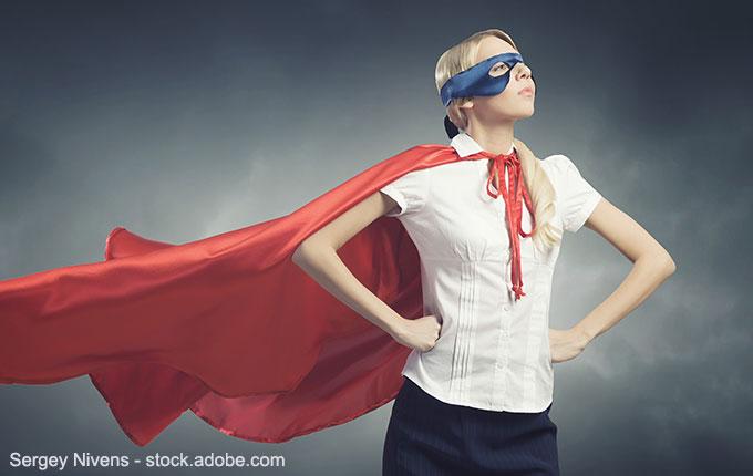 Frau als Superhelding