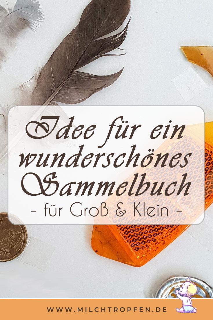 Idee für ein wunderschönes Sammelbuch - für Groß & Klein | Mehr Infos auf www.milchtropfen.de