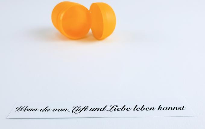 Ü-Ei Plastikverpackung - Wenn du von Luft und Liebe leben kannst