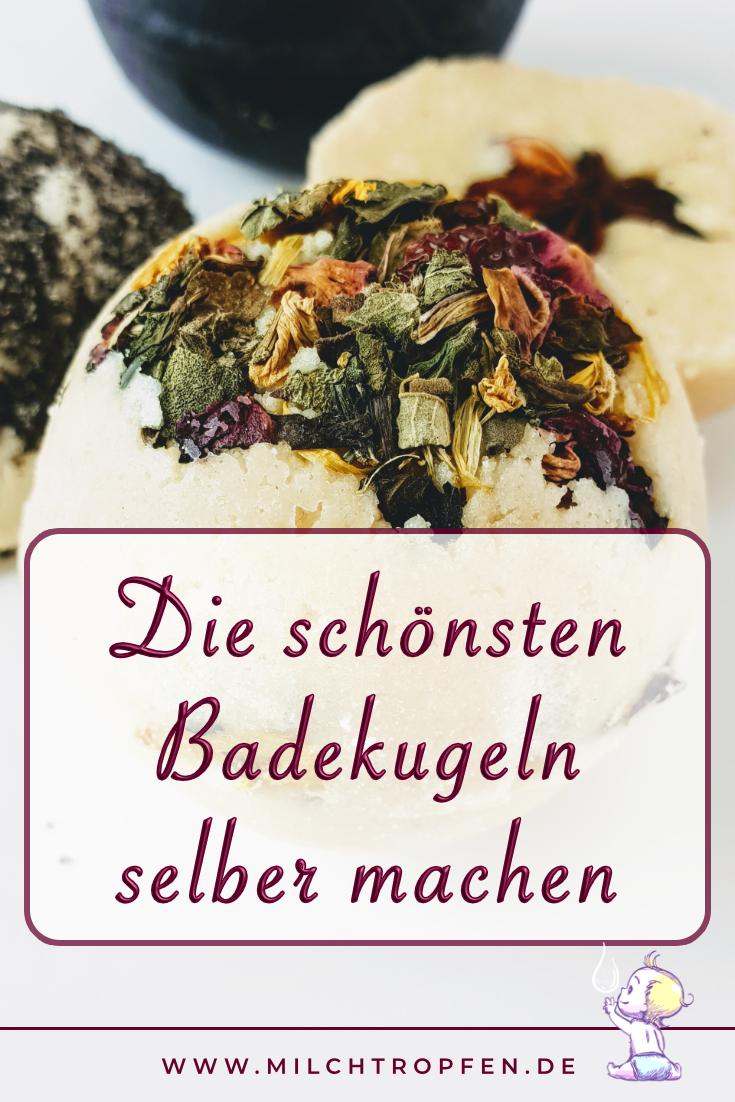 Die schönsten Badekugeln selber machen | Mehr Infos auf www.milchtropfen.de