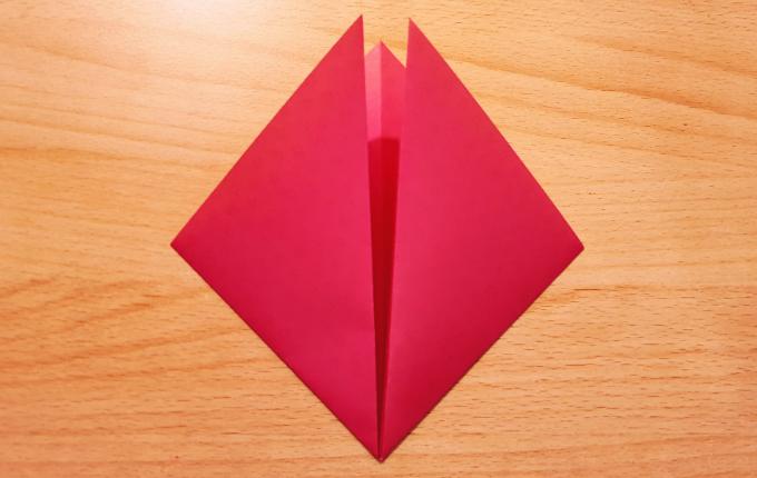 Dreieck zusammen gefaltet