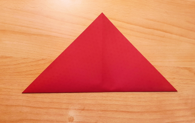 gleichschenkliges Dreieck mit Spitze nach oben