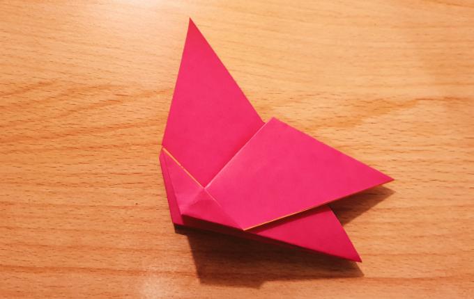 Origami Huhn ohne Kopf