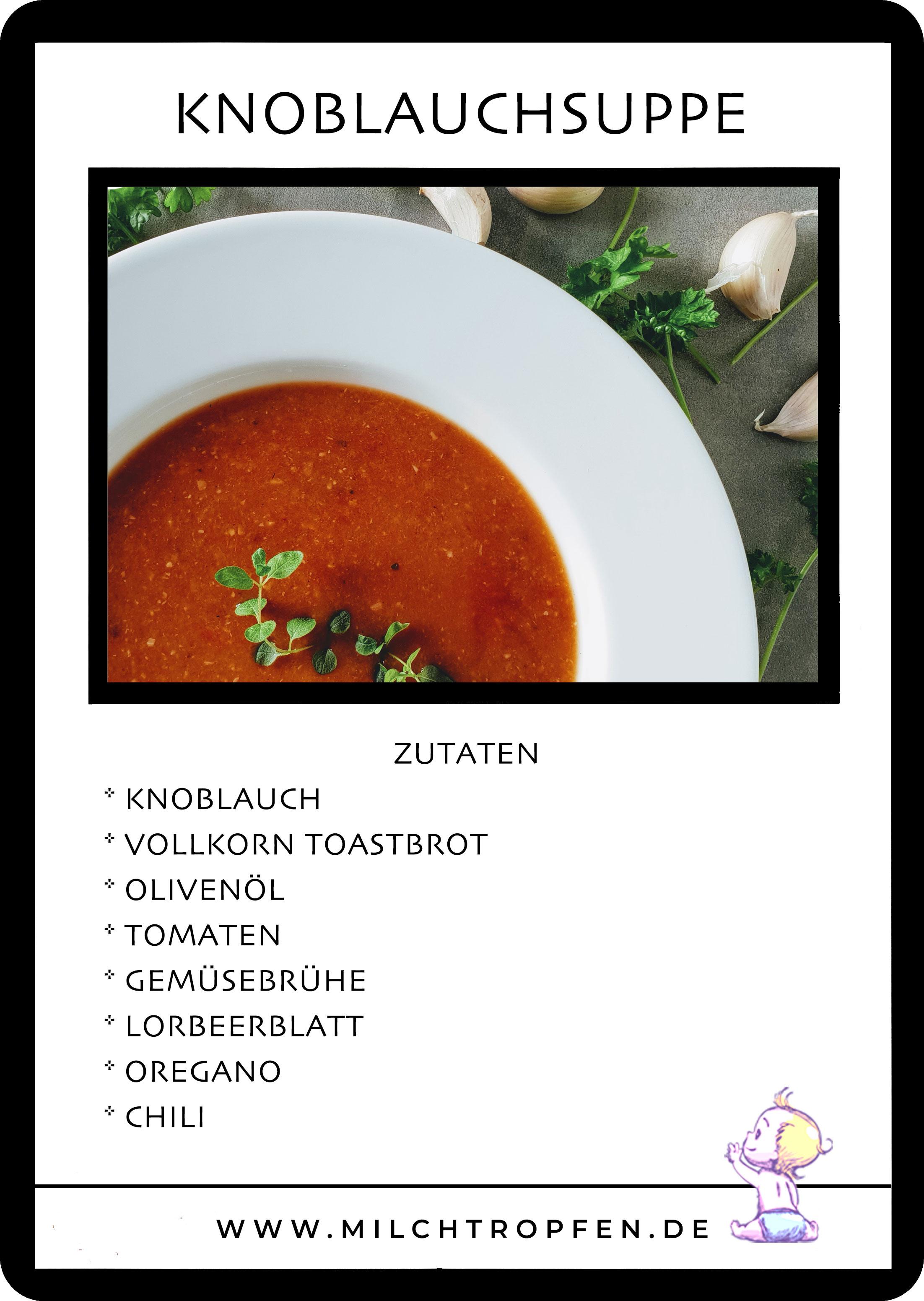 Mallorquinische Knoblauchsuppe | Mehr Infos auf www.milchtropfen.de