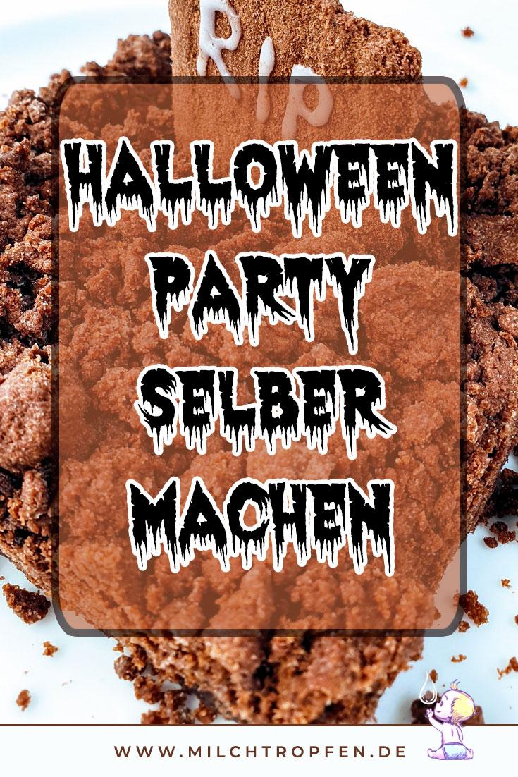 Halloween Party selber machen - Grabstein Kuchen | Mehr Infos auf www.milchtropfen.de