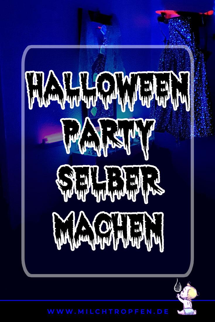 Halloween Party selber machen - Horror Flur mit Schwarzlicht | Mehr Infos auf www.milchtropfen.de