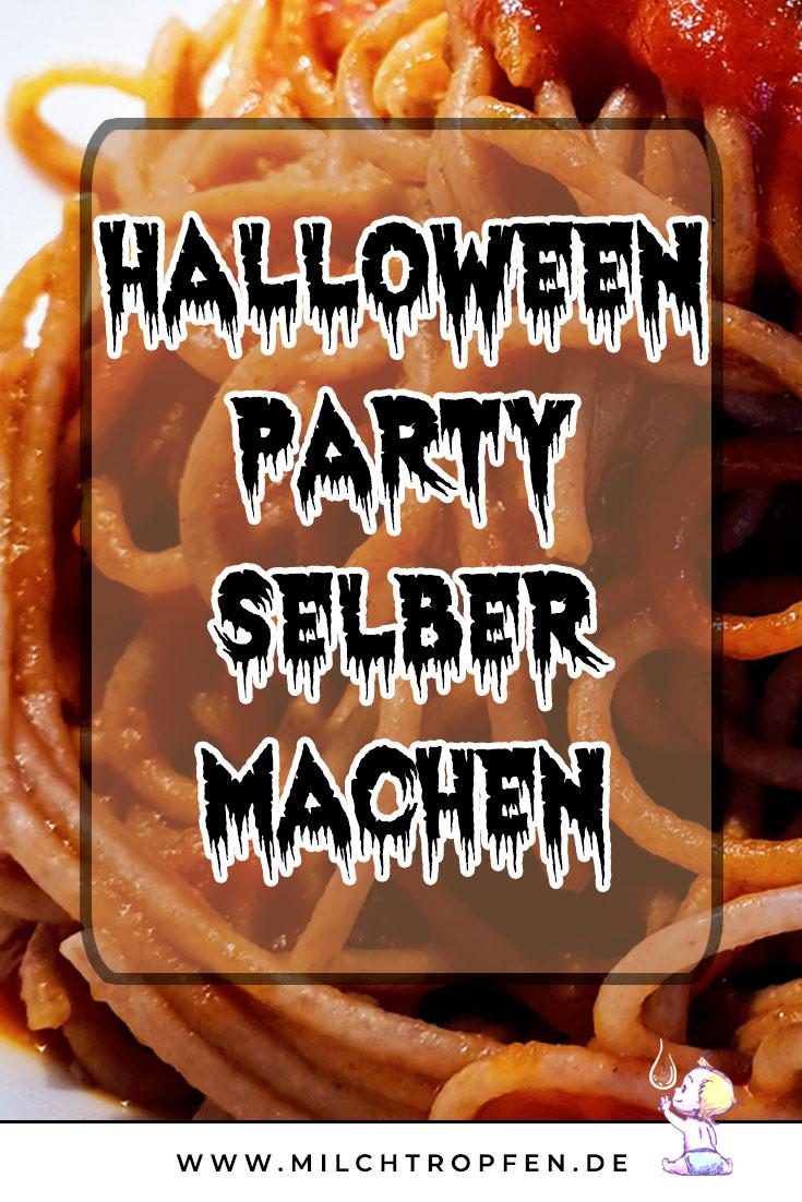 Halloween Party selber machen - Spaghetti mit Blut | Mehr Infos auf www.milchtropfen.de