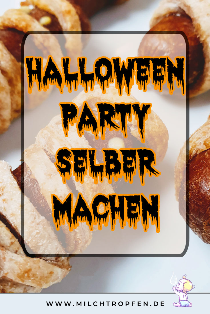 Halloween Party selber machen - vegane Würstchen Mumien | Mehr Infos auf www.milchtropfen.de