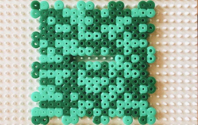 Deckel aus Bügelperlen für Minecraft Spardose