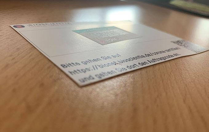 Bioscientia QR Code